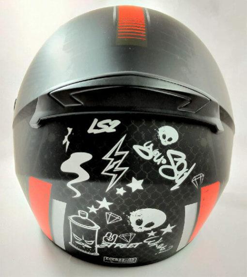 LS2 FF352 Rookie Street Matt Black Red Full Face Helmet 1
