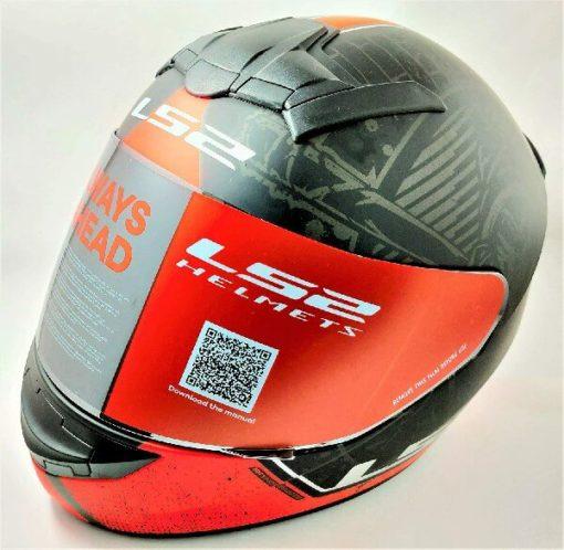 LS2 FF352 Rookie Street Matt Black Red Full Face Helmet 2