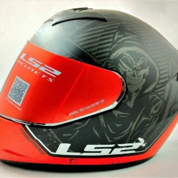 LS2 FF352 Rookie Street Matt Black Red Full Face Helmet