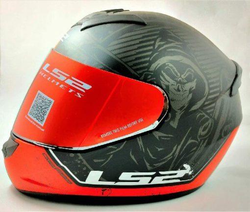 LS2 FF352 Rookie Street Matt Black Red Full Face Helmet