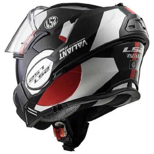 LS2 FF399 Avant Matt Black White Red Flip Up Helmet 1