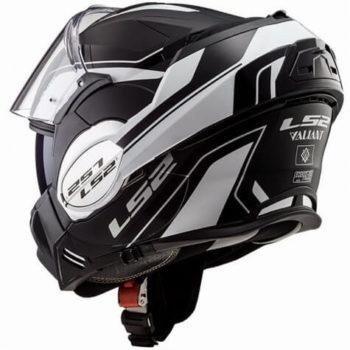 LS2 FF399 Luman Matt White Black Flip Up Helmet 1