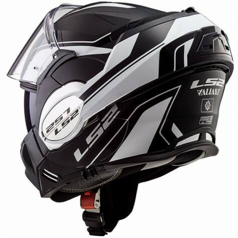 LS2 FF399 Luman Matt White Black Flip Up Helmet 1