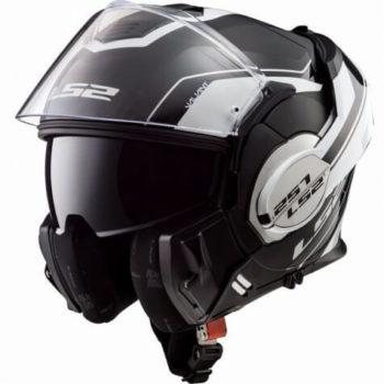 LS2 FF399 Luman Matt White Black Flip Up Helmet