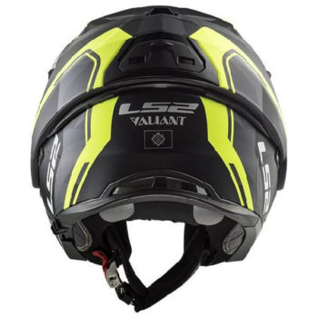 LS2 FF399 Valiant Line Matt Black Fluorescent Yellow Flip Up Helmet 1