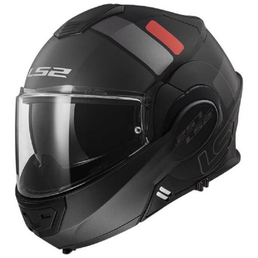 LS2 FF399 Valiant Prox Matt Black Titanium Flip Up Helmet 3