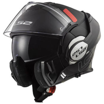 LS2 FF399 Valiant Prox Matt Black Titanium Flip Up Helmet