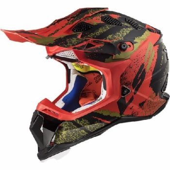 LS2 MX470 Subverter Claw Matt Black Red Motocross Helmet