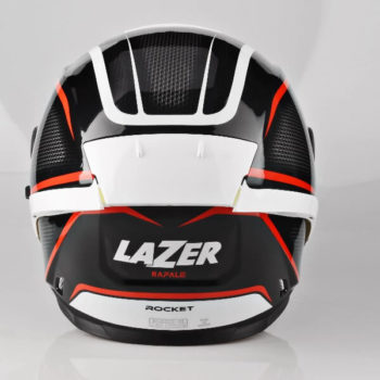 Lazer Rafale Rocket Gloss Black White Red Full Face Helmet 1