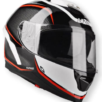 Lazer Rafale Rocket Gloss Black White Red Full Face Helmet