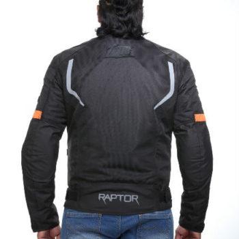 Zeus Raptor V3 Smart Black Grey Orange Riding Jacket 1