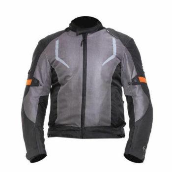 Zeus Raptor V3 Smart Black Grey Orange Riding Jacket