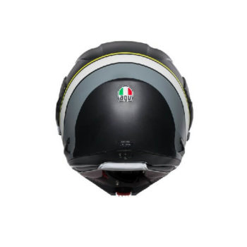 AGV Compact ST Boston Matt Black Grey Yellow Flip Up Helmet 1