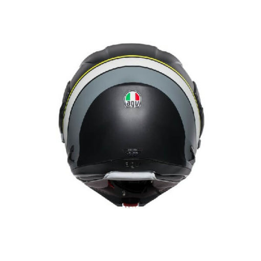 AGV Compact ST Boston Matt Black Grey Yellow Flip Up Helmet 1