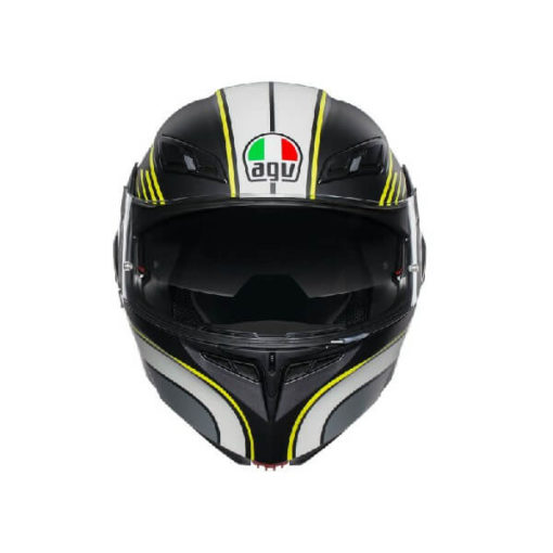 AGV Compact ST Boston Matt Black Grey Yellow Flip Up Helmet 2