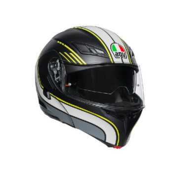 AGV Compact ST Boston Matt Black Grey Yellow Flip Up Helmet