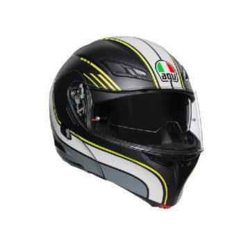 AGV Compact ST Boston Matt Black Grey Yellow Flip Up Helmet