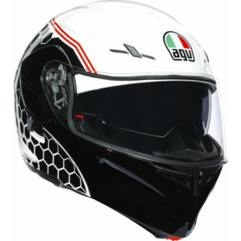 AGV Compact ST Detroit Matt White Black Flip Up Helmet 1