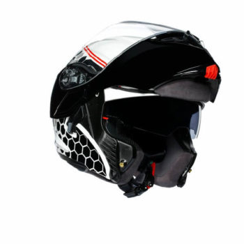 AGV Compact ST Detroit Matt White Black Flip Up Helmet