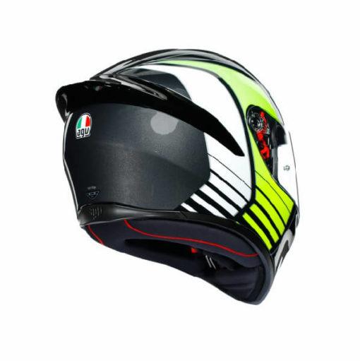 AGV K1 Multi Power Gloss Black Gunmental Green Full Face Helmet 1
