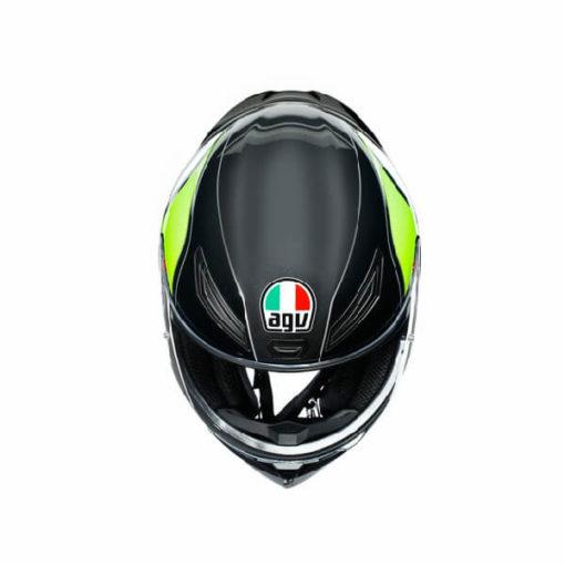 AGV K1 Multi Power Gloss Black Gunmental Green Full Face Helmet 2
