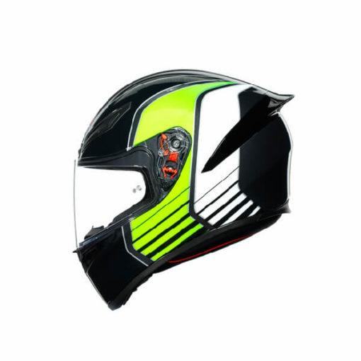 AGV K1 Multi Power Gloss Black Gunmental Green Full Face Helmet 3