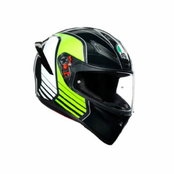 AGV K1 Multi Power Gloss Black Gunmental Green Full Face Helmet