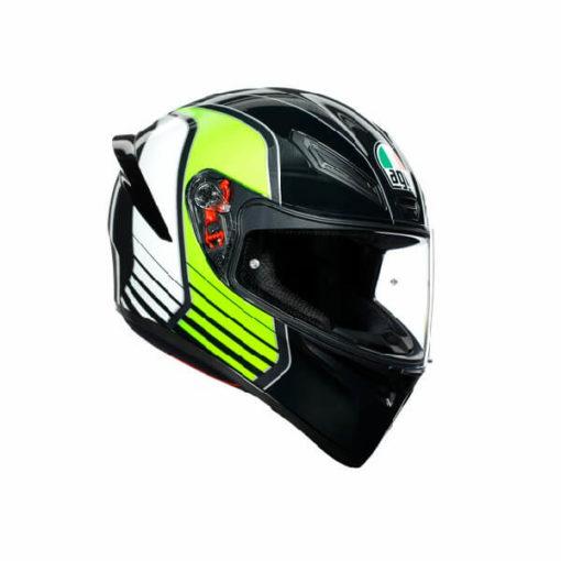 AGV K1 Multi Power Gloss Black Gunmental Green Full Face Helmet
