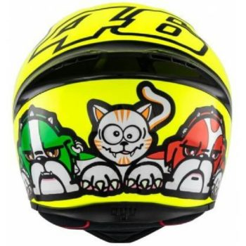AGV K1 Rossi Mugello 2016 Gloss Fluorescent Yellow Black Full Face Helmet 1