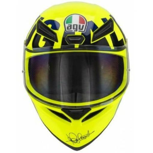 AGV K1 Rossi Mugello 2016 Gloss Fluorescent Yellow Black Full Face Helmet 2