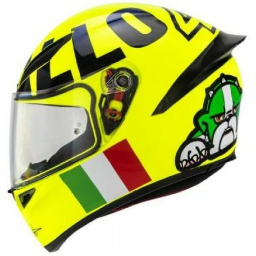 AGV K1 Rossi Mugello 2016 Gloss Fluorescent Yellow Black Full Face Helmet 3