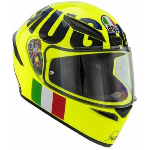 AGV K1 Rossi Mugello 2016 Gloss Fluorescent Yellow Black Full Face Helmet