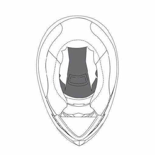 AGV K3 SV Black Crown Pad
