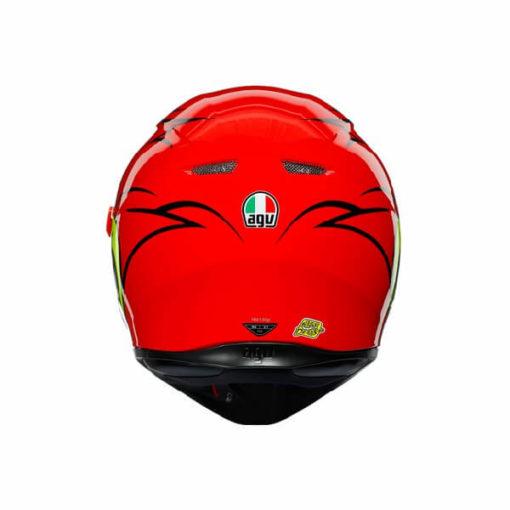 AGV K3 SV Multi Plk Birdy Matt Red Yellow White Full Face Helmet 1