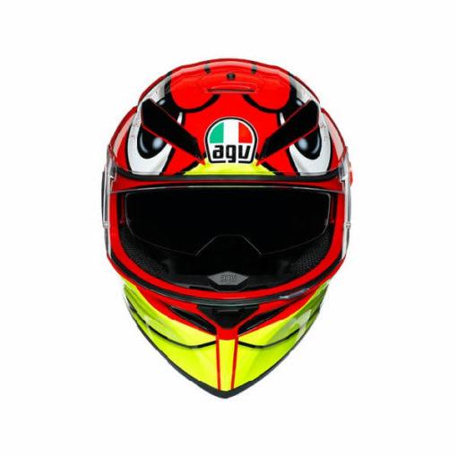 AGV K3 SV Multi Plk Birdy Matt Red Yellow White Full Face Helmet 2