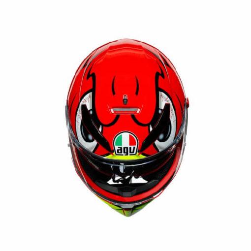 AGV K3 SV Multi Plk Birdy Matt Red Yellow White Full Face Helmet 3