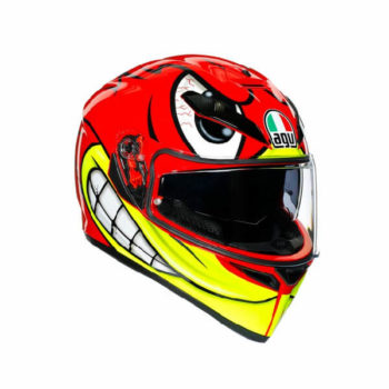 AGV K3 SV Multi Plk Birdy Matt Red Yellow White Full Face Helmet