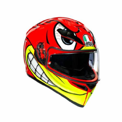 AGV K3 SV Multi Plk Birdy Matt Red Yellow White Full Face Helmet
