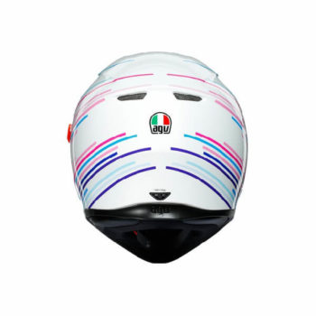 AGV K3 SV Multi Plk Sakura Matt Pearl White Purple Full Face Helmet 1