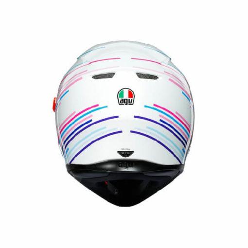 AGV K3 SV Multi Plk Sakura Matt Pearl White Purple Full Face Helmet 1