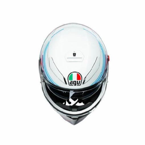 AGV K3 SV Multi Plk Sakura Matt Pearl White Purple Full Face Helmet 2