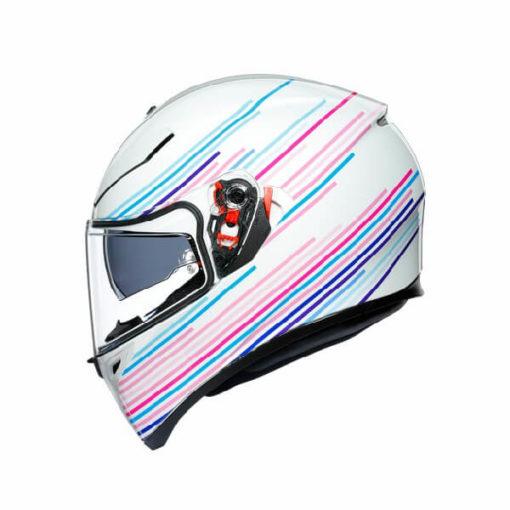 AGV K3 SV Multi Plk Sakura Matt Pearl White Purple Full Face Helmet 3