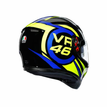 AGV K3 SV Top MPLK Ride 46 Gloss Black Yellow Blue Full Face Helmet 1