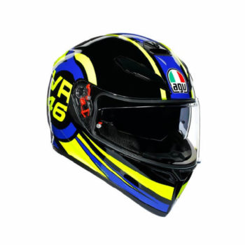 AGV K3 SV Top MPLK Ride 46 Gloss Black Yellow Blue Full Face Helmet