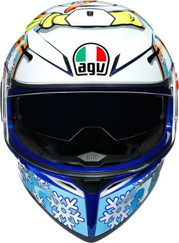 AGV K3 SV Top MPLK Rossi Winter Test 2016 Matt Blue White Yellow Full Face Helmet 2