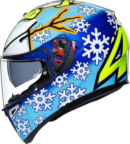 AGV K3 SV Top MPLK Rossi Winter Test 2016 Matt Blue White Yellow Full Face Helmet 3