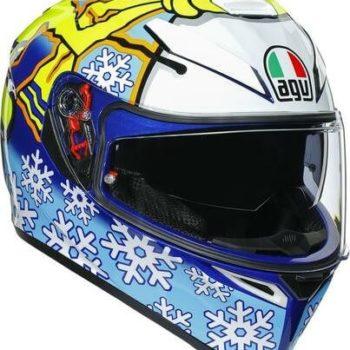 AGV K3 SV Top MPLK Rossi Winter Test 2016 Matt Blue White Yellow Full Face Helmet