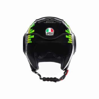 AGV Orbyt Multi Ginza Gloss Black Yellow Green Open Face Helmet 1