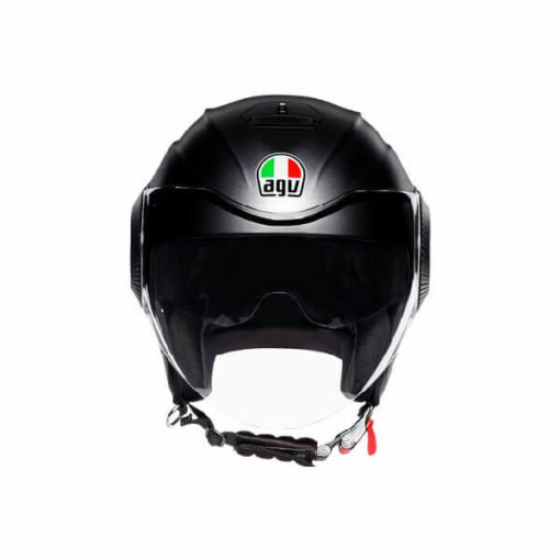 AGV Orbyt Solid Matt Black Open Face Helmet 2