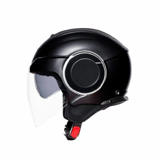 AGV Orbyt Solid Matt Black Open Face Helmet 3